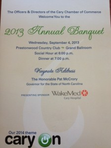 Cary Chamber Annual Meeting Program 2