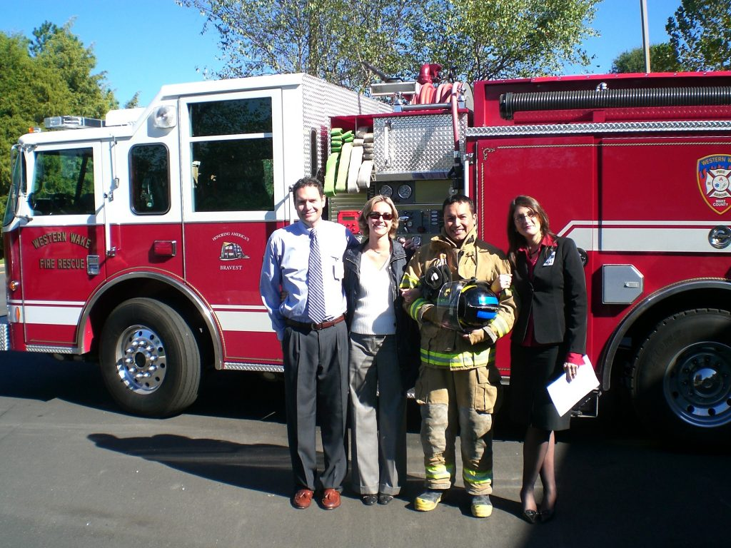 Emilio and HEP Staff at fire station_b